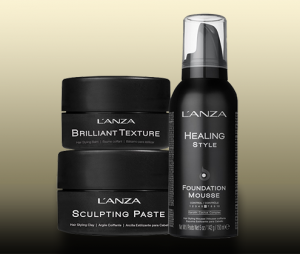 Lanza styling products at Glass Hair Salon Kamloops BC