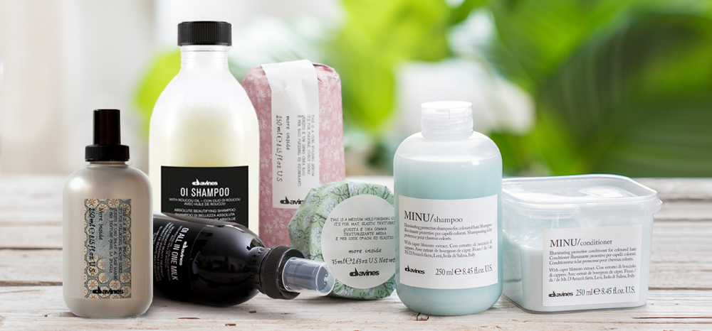 Davines haircare products used and sold at Glass Hair Salon, Kamloops, BC