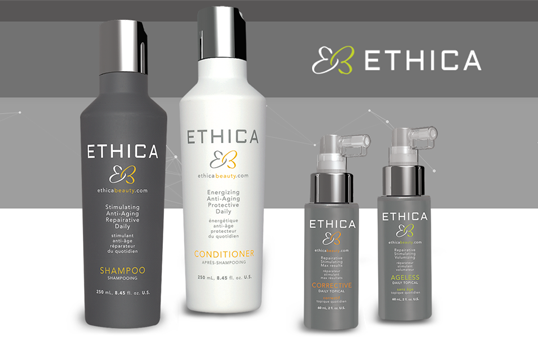 Ethica haircare products used and sold at Glass Hair Salon, Kamloops, BC